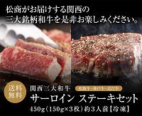 最大和牛食べ比べ松商サーロインステーキ200