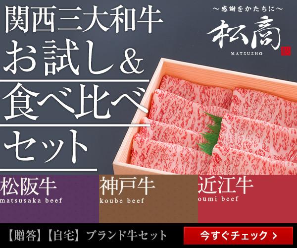 関西三大牛食べ比べセット松商600