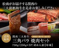 最大和牛食べ比べ松商三角バラ焼肉200