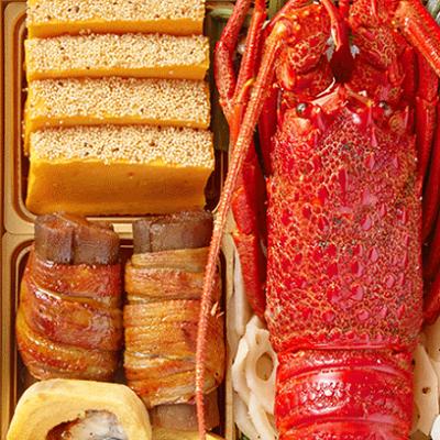 小僧寿し豪華海鮮おせち壱の重400。小僧寿し,おせち,口コミ,評判,海鮮おせち